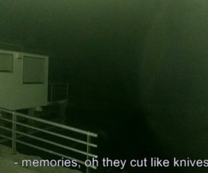 memories, knives, and grunge image