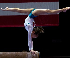 gymnastics, gymnast, and handstand image