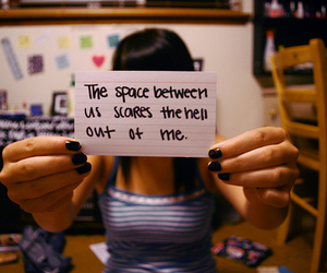 distance, space, and sad image