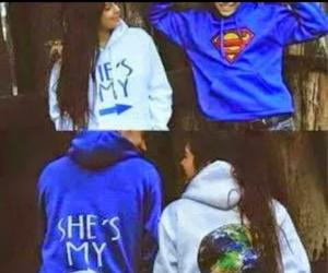 love, superman, and world image