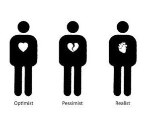 heart, optimist, and realist image