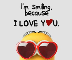 minions, love, and smile image