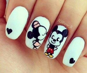nails, mickey, and minnie image