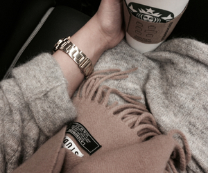 starbucks, coffee, and watch image