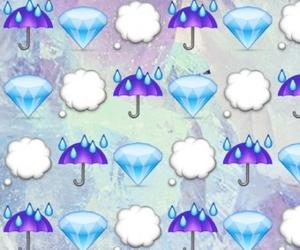 wallpaper, diamond, and emoji image