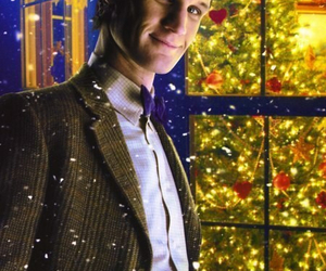 christmas, matt smith, and doctor who image