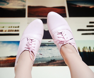 brogues, oxford shoes, and pink image