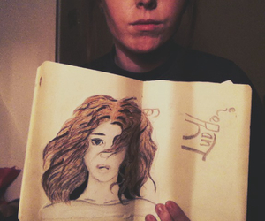 beauty, draw, and drawing image