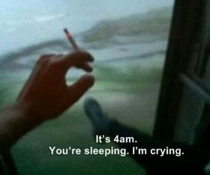 crying, night, and sadness image