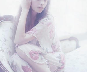 girl, pretty, and soft image