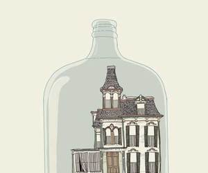bottle and house image