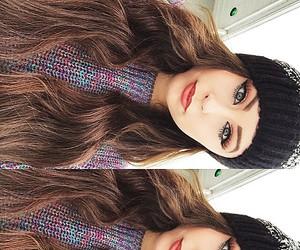 beautiful, brune, and girl image