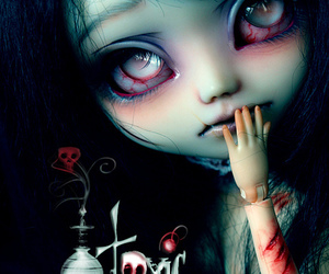 doll, dark, and horror image