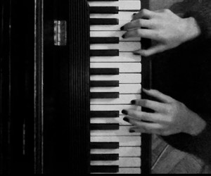 black and white, music, and photography image