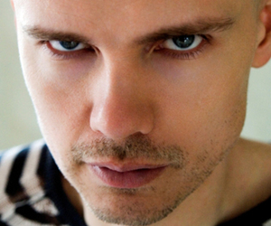billy corgan, black and white, and man image
