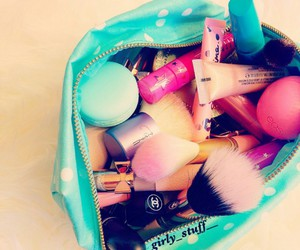 girly, makeup, and love image