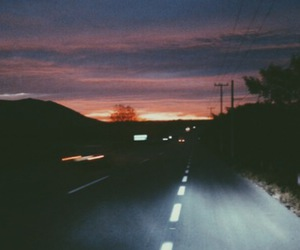 grunge, road, and sky image