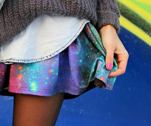 fashion, galaxy, and girl image