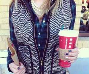 fashion, starbucks, and vest image