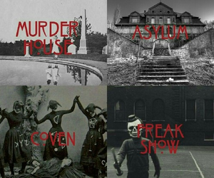 american horror story, coven, and asylum image