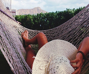 hammock, paradise, and legs image