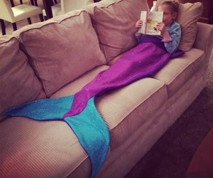 mermaid, girl, and book image