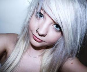 alt girl, white hair, and pastel hair image