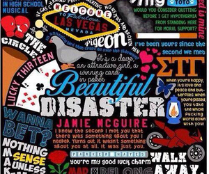 beautiful disaster, abby, and book image