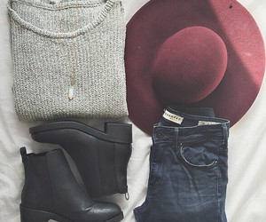 booties, jeans, and simple image