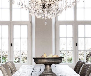 home, light, and chandelier image