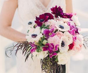 beautiful, boda, and bouquet image