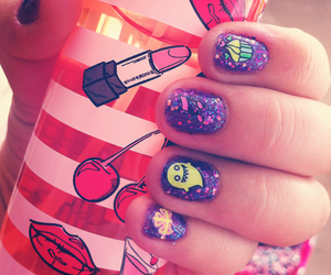 manicure, nails, and galaxi image