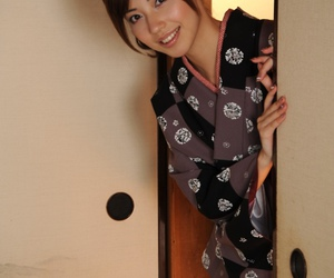 girl, japanese, and kimono image