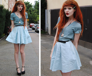 baby blue, pretty, and fashion image