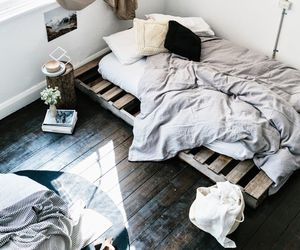 white, wooden, and room image