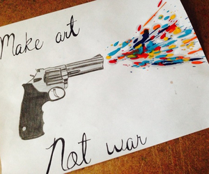 art, drawing, and gun image