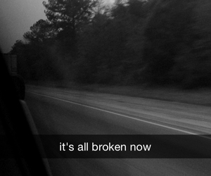 black and white, break up, and broken image