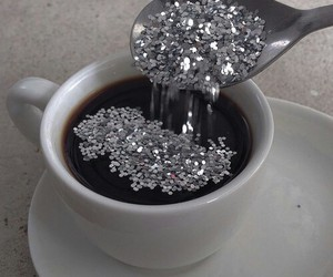 coffee, glitter, and grunge image