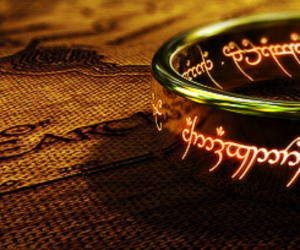 book, hobbit, and ring image