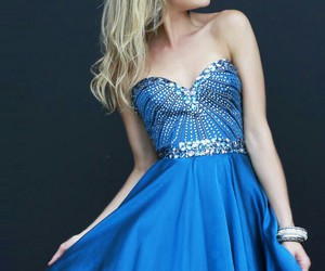 beautiful, Prom, and blue image
