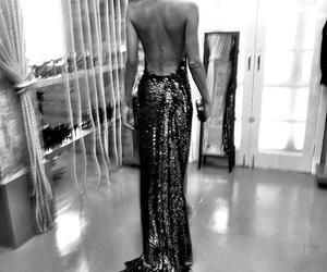 b&w, dress, and elegance image