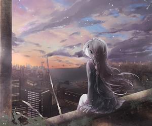 anime, anime girl, and morning image