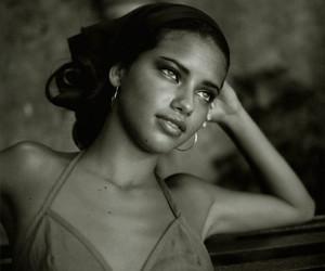 Adriana Lima, black and white, and fashion image