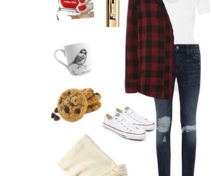 converses, flannel, and white converses image
