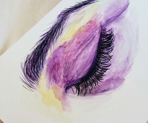 art, eye, and purple image