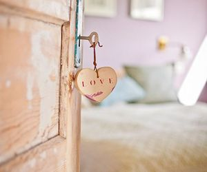 love, bedroom, and heart image