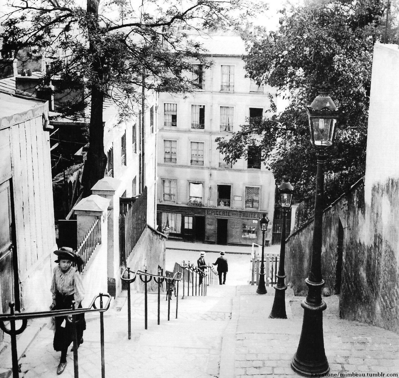 Chamade Vintage French Photos Steps Of Montmatre Hill Paris