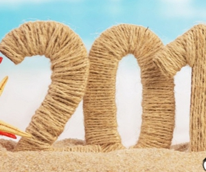 beach, facebook cover, and new year image