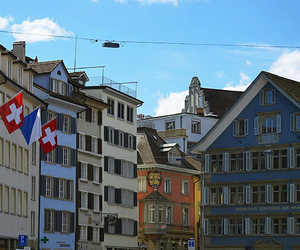blue, sun, and switzerland image