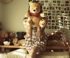 girl, lonely, and pooh image